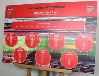 Arsenal Wedding Table Plan