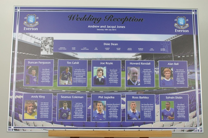 Everton wedding table plan