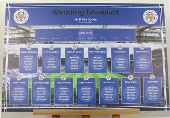 Leicester City wedding table plan