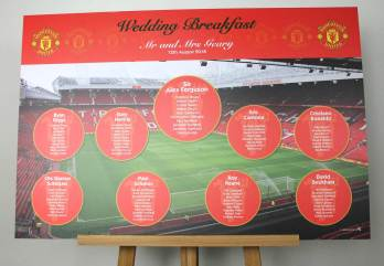 manchester united wedding table plan
