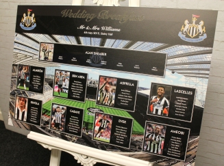 Newcastle United wedding table plan