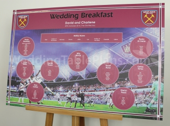 West Ham Wedding Table Plan